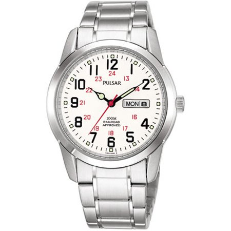 Pulsar Railroad Approved Watch - Stainless - White Face