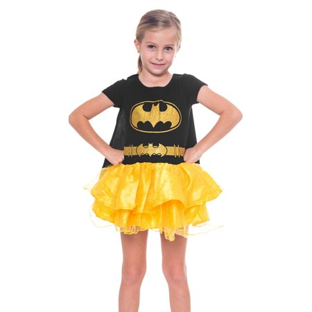 DC Batgirl Girls Tutu Costume Dress w/ Cape](Batgirl Dress Up)