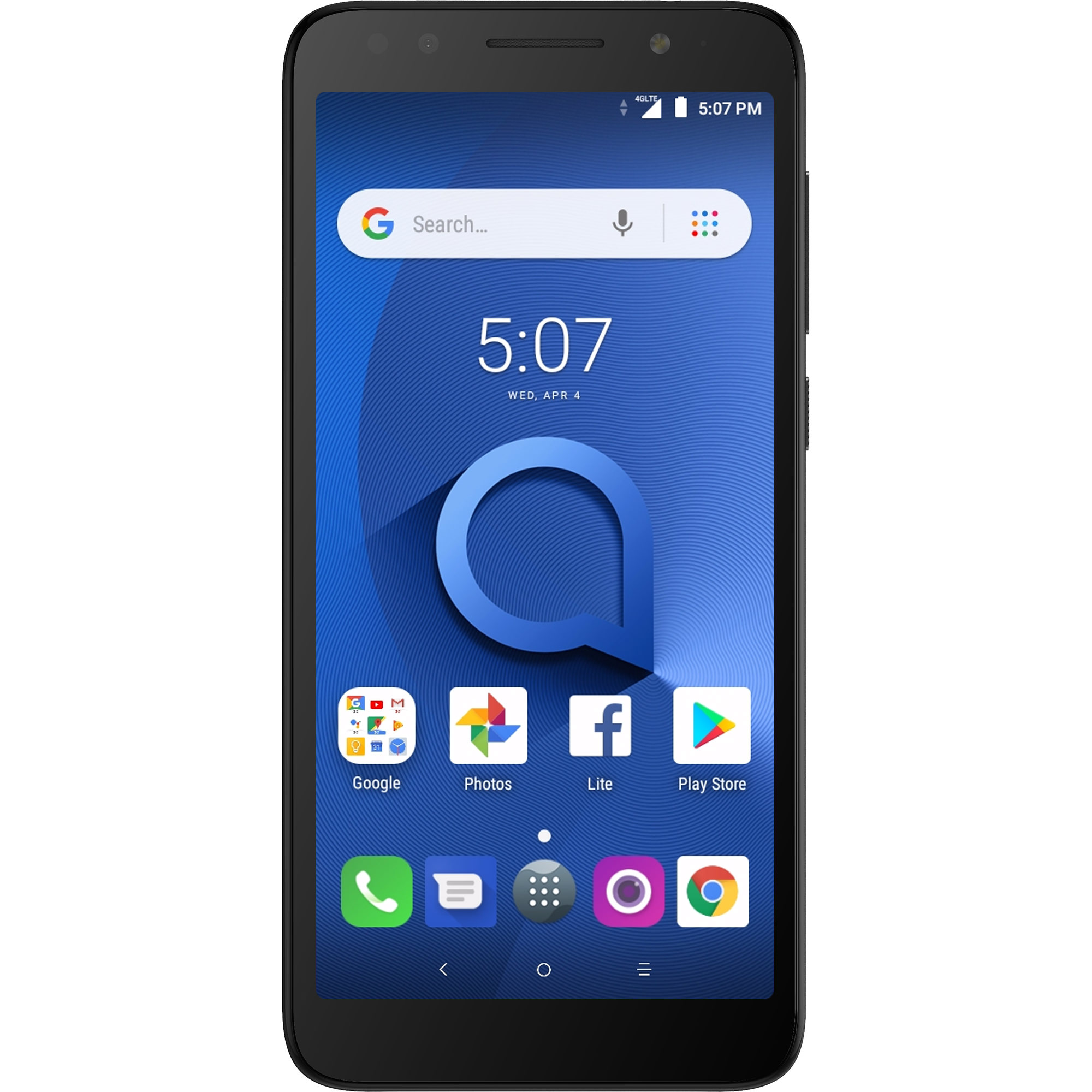Alcatel 1X 16GB Unlocked Smartphone, Dark Grey