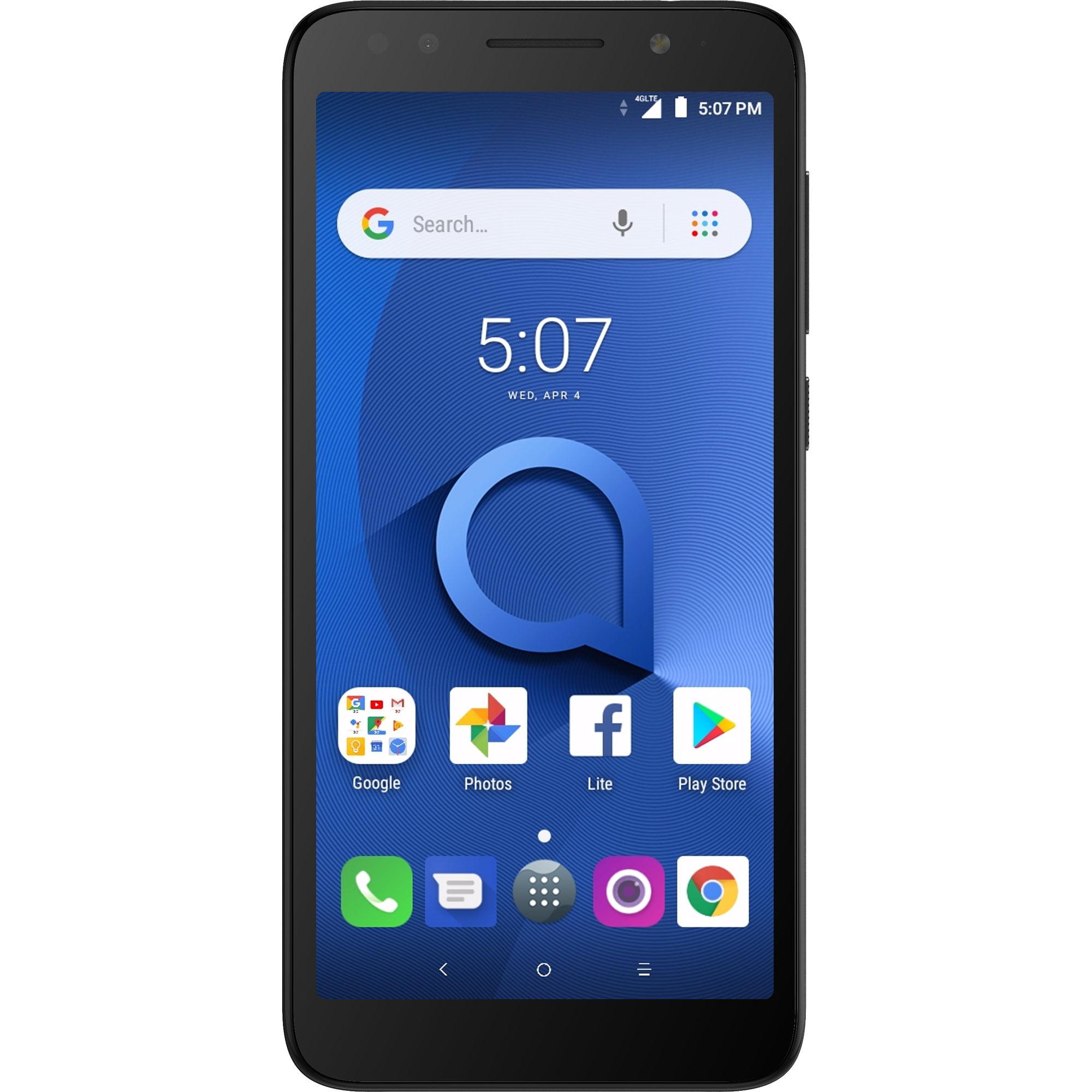 Alcatel 1X 16GB Unlocked Smartphone, Dark Grey