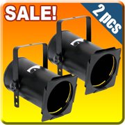 2x PAR 38 BLACK Can Light Stage PAR38 Lighting club DJ