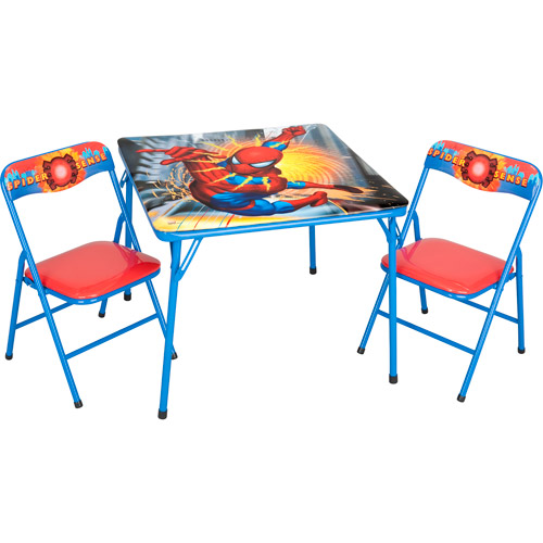 Folding Table and Chair Set, Spider-Man