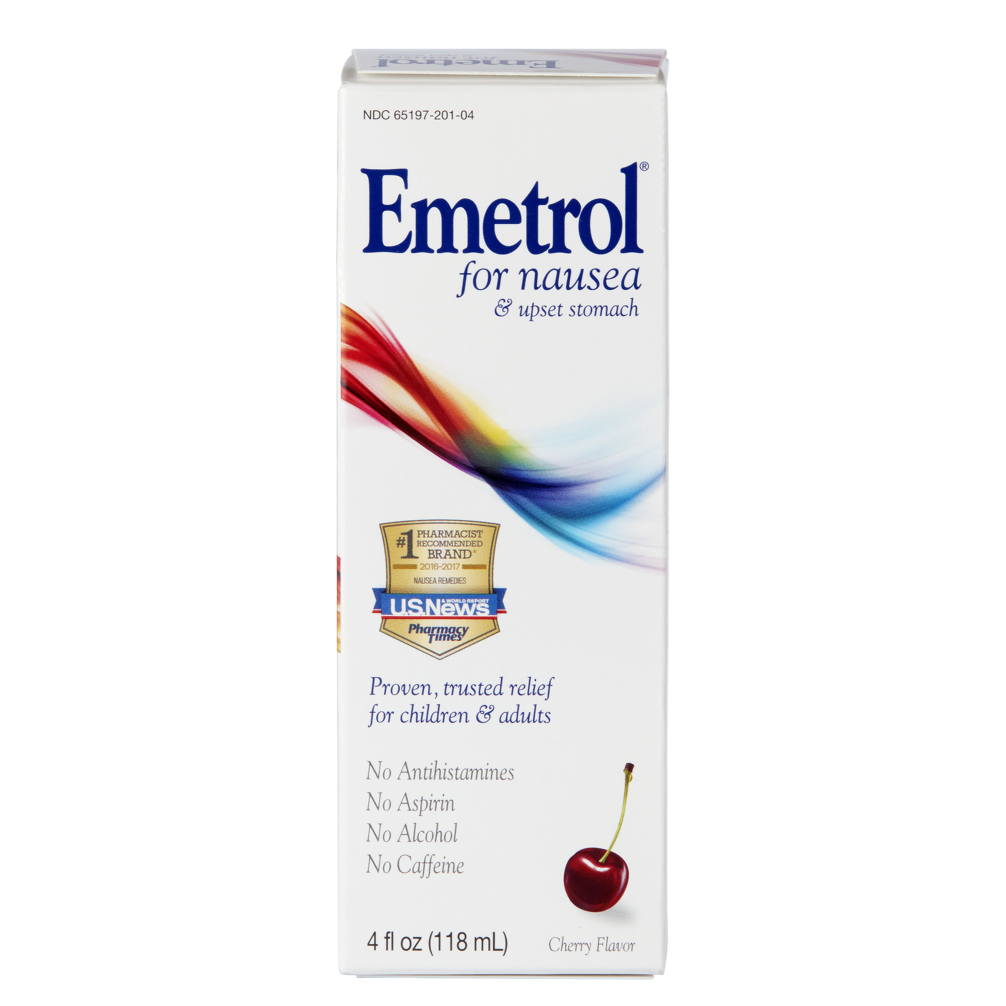 Emetrol Nausea and Upset Stomach Relief Liquid Medication, Cherry - 4 oz.