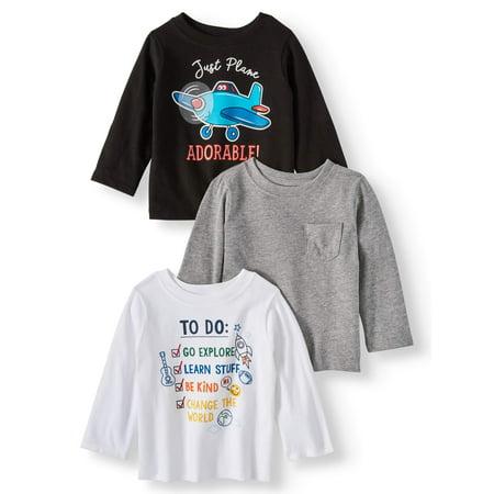 (Garanimals Long Sleeve T-Shirts, 3-pack (Baby Boys))