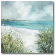 "Courtside Market Coastal Fences 16""x16"" Gallery-Wrapped Canvas Wall Art"