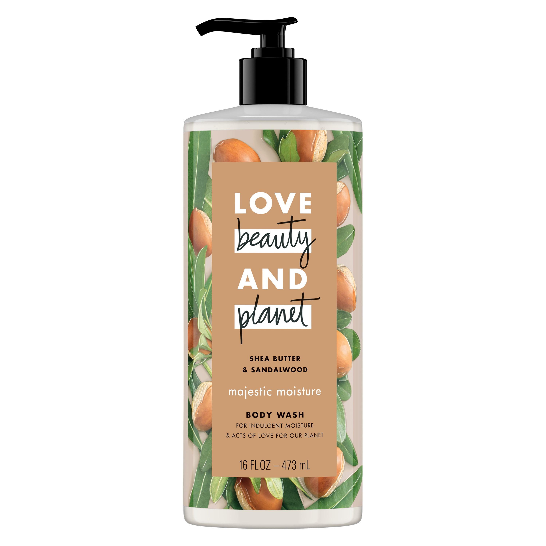 Love Beauty And Planet Majestic Moisture Body Wash Shea Butter & Sandalwood 16 oz