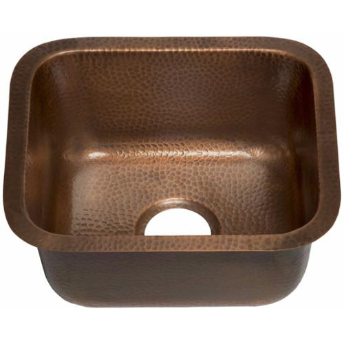 Sinkology Sisley Undermount Handmade Copper Sink 17 Copper Undermount Bar Sink N40