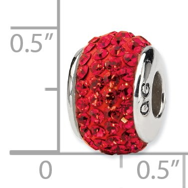 925 Sterling Silver Charm For Bracelet Red Full Swarovski Crystal Bead Collegiate College Stone Fine Jewelry Gifts For Women For Her - image 2 of 6