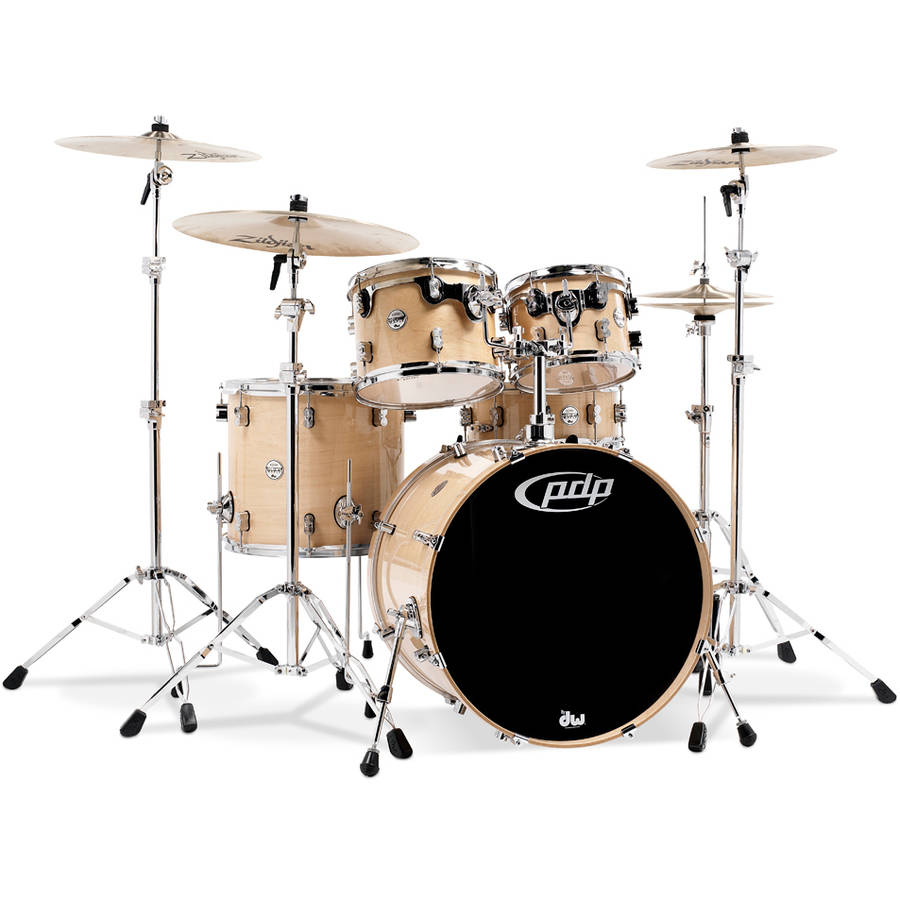 Pacific PDP Concept Maple 5-Piece Drum Shell Pack with Chrome Hardware, Natural by Pacific