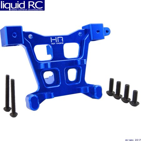 Hot Racing RVO32M06 Aluminum Rear Body Mount (Blue) - E-Revo Revo Slayer Summit