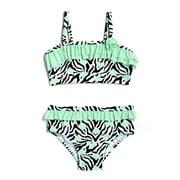 Toddler Girl Heart Skinz Zebra Print Bikini Swimsuit