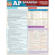BarCharts 9781423222385 AP Spanish Quickstudy Easel
