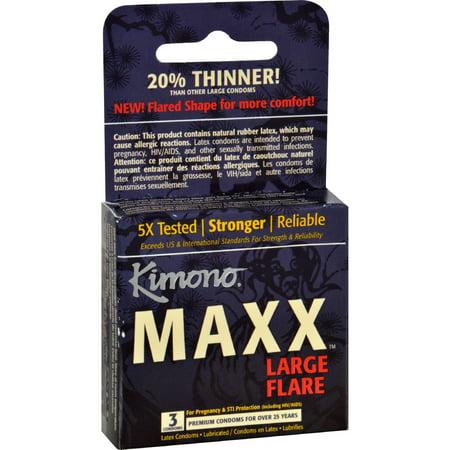 Flare Kimono - Kimono Condoms - Maxx - Large Flare - 3 Count