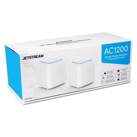 Jetstream AC1200 Whole Home WiFi Mesh Routers 2-Pack, Up to 4,000 Square Feet, 802.11ac (EMESH1200) - Walmart Exclusive!