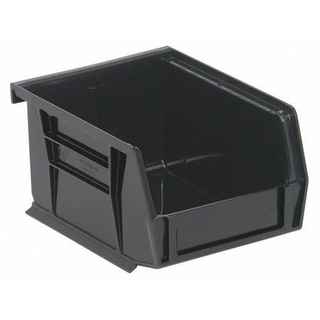 Black Single Stack - Quantum Storage Systems Hang and Stack Bin Black  Polypropylene  QUS200BK