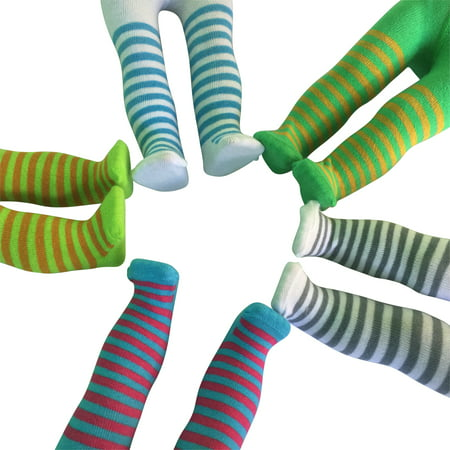 Doll Tights (Set of 5 Striped Tights for 18 inch)