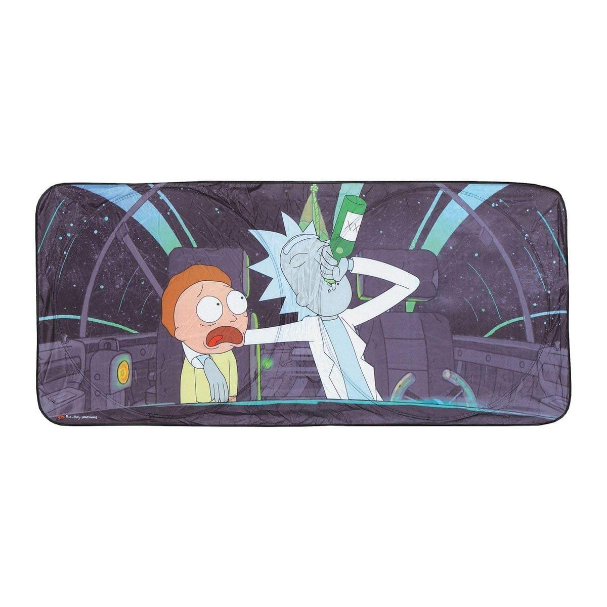 Rick and Morty Space Cruiser Auto Sunshade   Rick And Morty Accessories