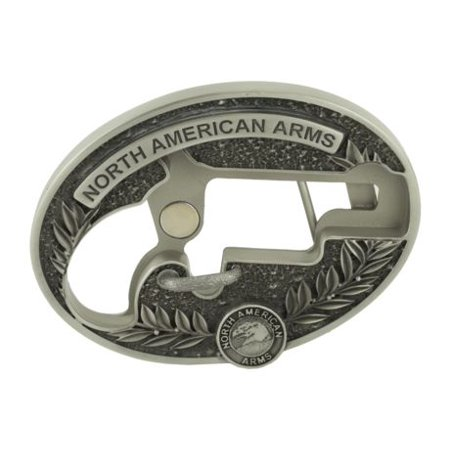 North American Arms 1 1/8 Long Rifle Ova Ornate Belt Buckle w/ Secure Clip Relea](Catwoman Belt Buckle)