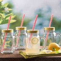 4-Pack Gibson Home Decha Mason Jar Glass Set