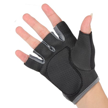 Sports Fitness Training Weightlifting Slip Boating Half Finger Glove  - image 4 of 8