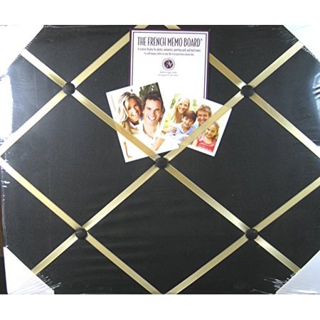 French Memo Board (The French Memo Board - A Creative Display for Photos, Mementos, Greeting Cards and Much More- Solid Black- Factory Sealed )
