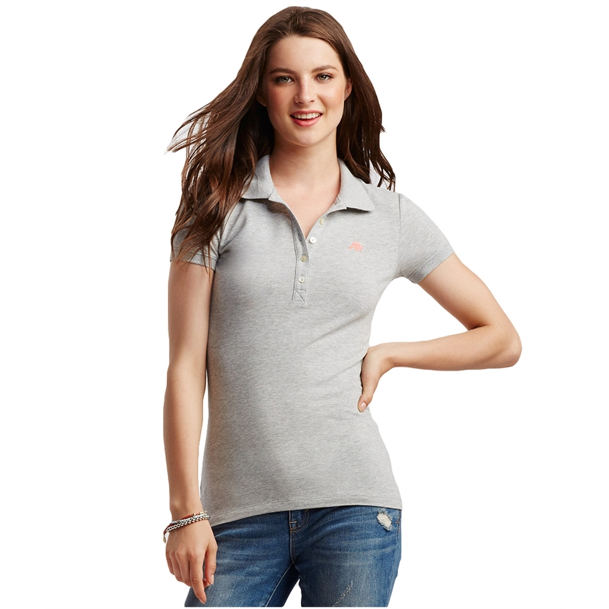 AEROPOSTALE Womens Solid Polo Shirt