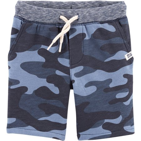 Carters Toddler Boys Camo Knit Pull-On Shorts Carters Toddler Boys Pull