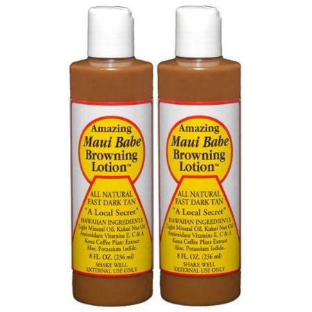 Amazing Maui Babe Browning Lotion (Maui Babe Browning Self Tanner Lotion, 8 Oz - 2 Pack )