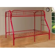Twin Over Full Red Bunk Bed