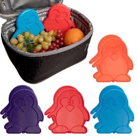 Cobble Creek (8 Pack) Colorful Penguin Freezer Packs Cold Packs Reusable Bulk Ice Packs For Lunch Boxes, First Aid