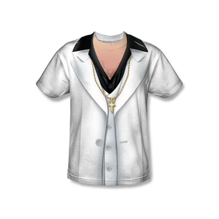 Leisure Suit Mens Sublimation Shirt - Polyester Leisure Suits