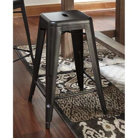 Ashley pinnadel 26 metal counter stool in gray for Meuble ashley circulaire