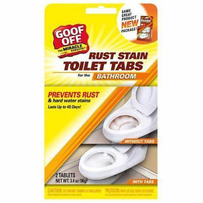 Goof Off Rust Stain Toilet Tabs for Bathroom, 2 Pack