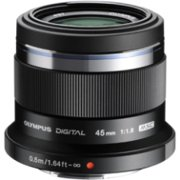 Olympus M.ZUIKO DIGITAL 45mm f/1.8 Fixed Focal Length Lens for Micro Four Thirds