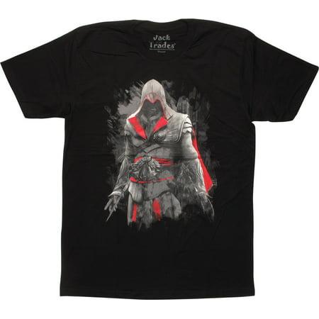 Assassins Creed Ezio Auditore Black T-Shirt Sheer - Assassin Creed Suits