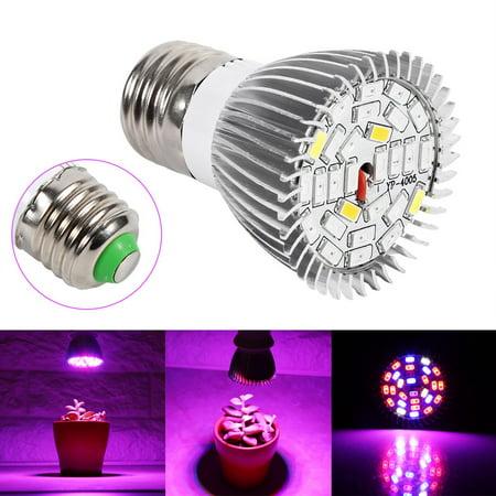 Qiilu Usine Led élèvent l'ampoule, Usine Led élèvent la lumière, Spectre complet E27 Led élèvent l'ampoule de la lampe de croissance pour la fleur de plante hydroponique bricolage - image 7 de 8