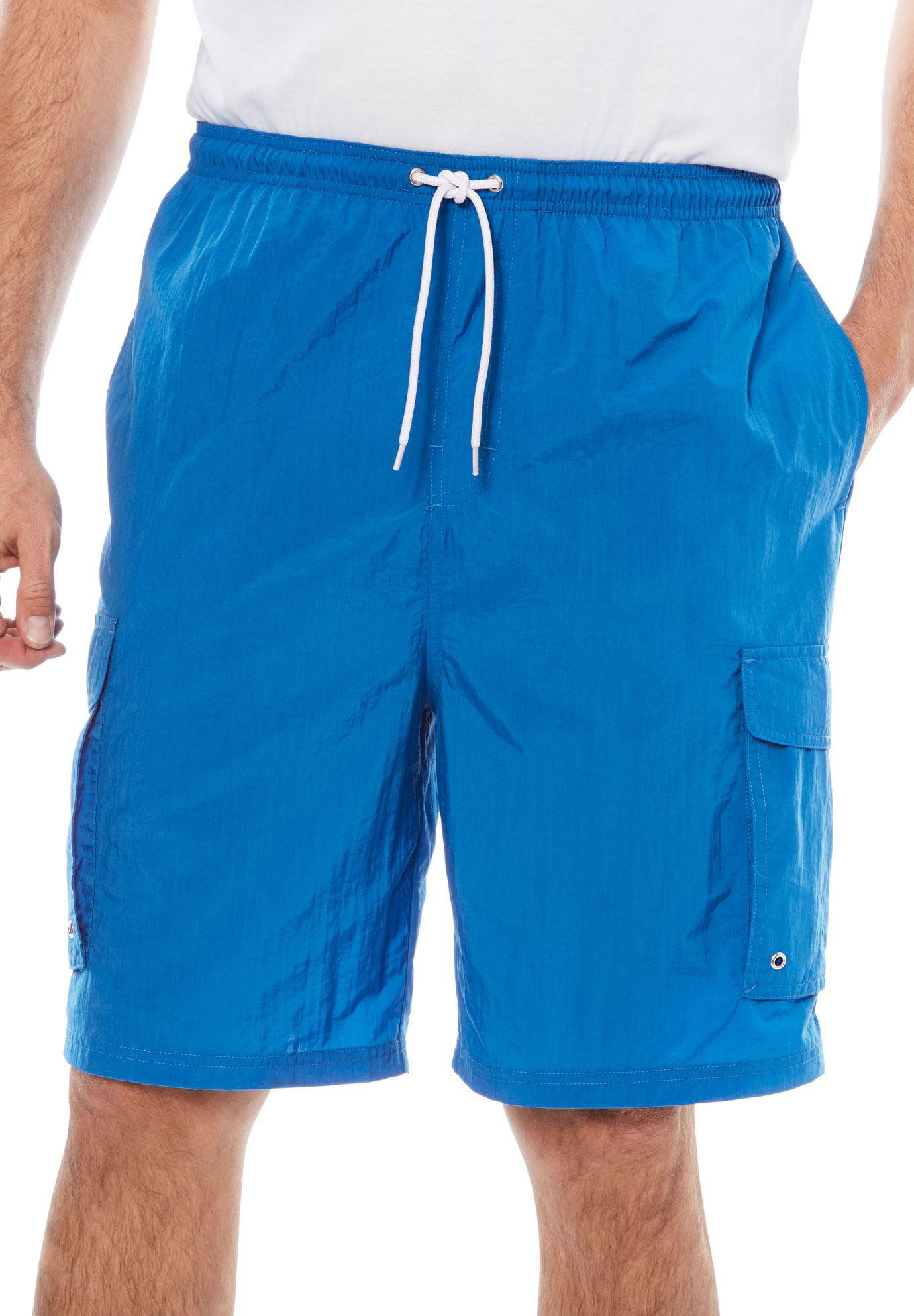 Kingsize Men's Big & Tall Nylon Cargo Swim Trunks