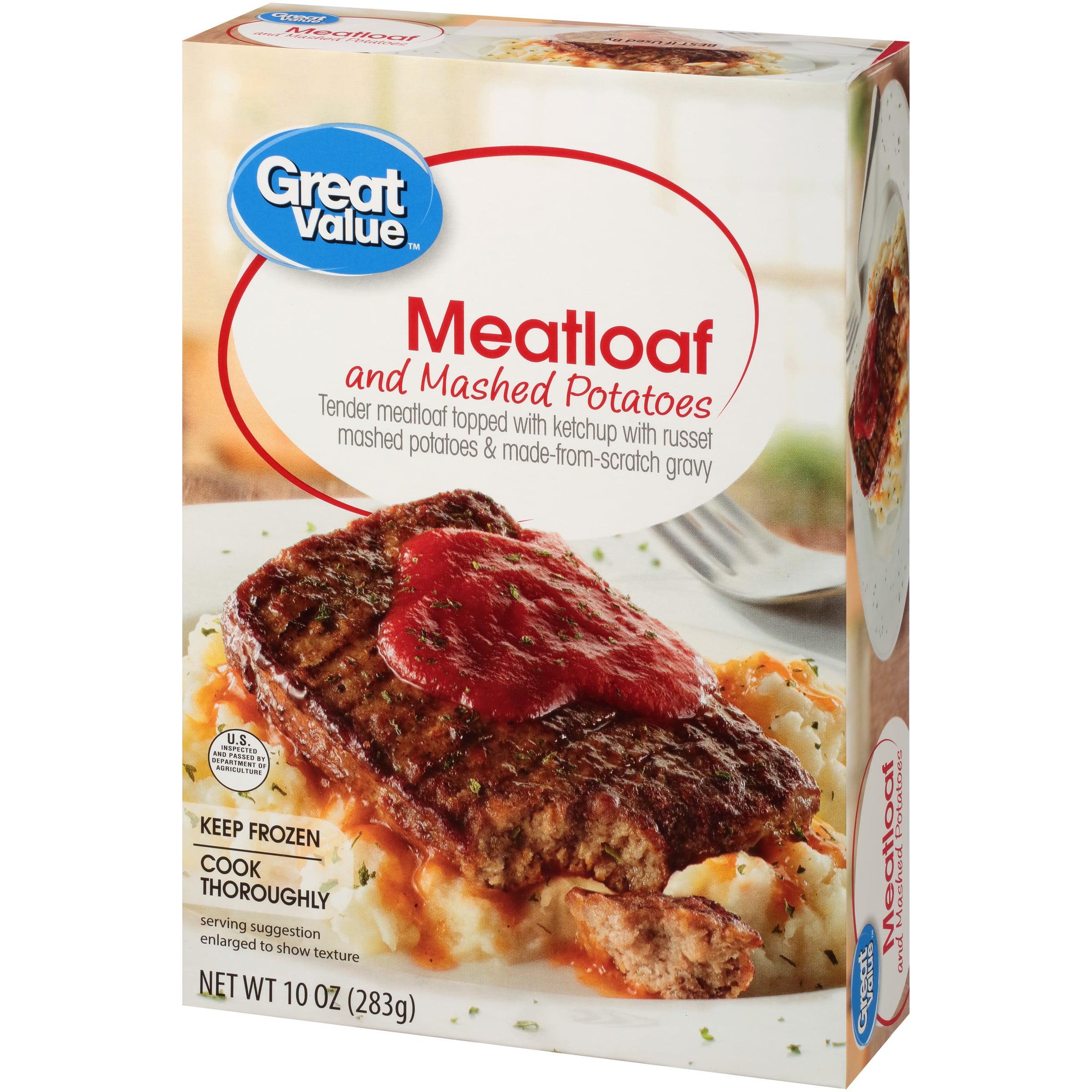 Great Value Meatloaf and Mashed Potatoes, 10 oz - Walmart.com - Walmart.com