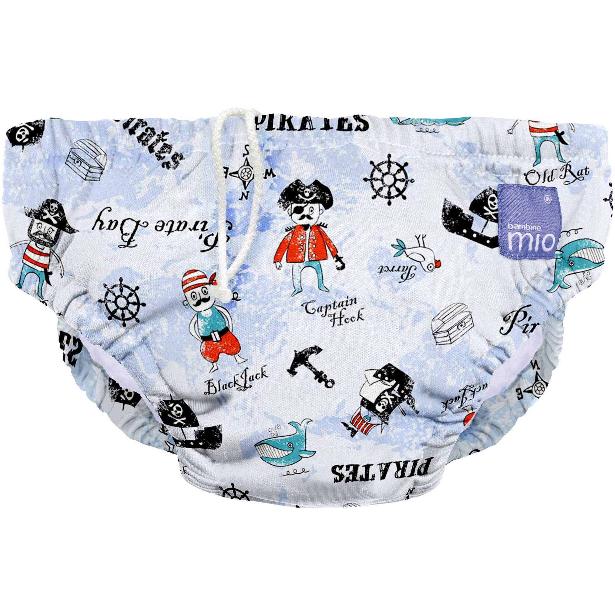 Bambino Mio Reusable Swim Diaper, Pirate Bay, (Choose Your Size)