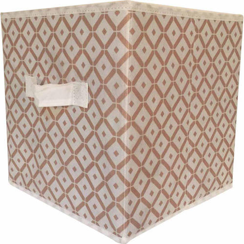 "Mainstays Collapsible Fabric Storage Cube, Set of 2 , Multiple Colors (10.5"" x 10.5"")"