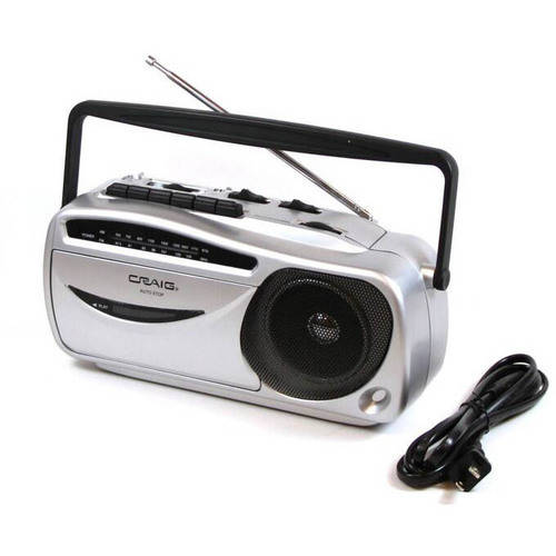 Craig Portable AM/FM Radio Cassette Recorder and Player