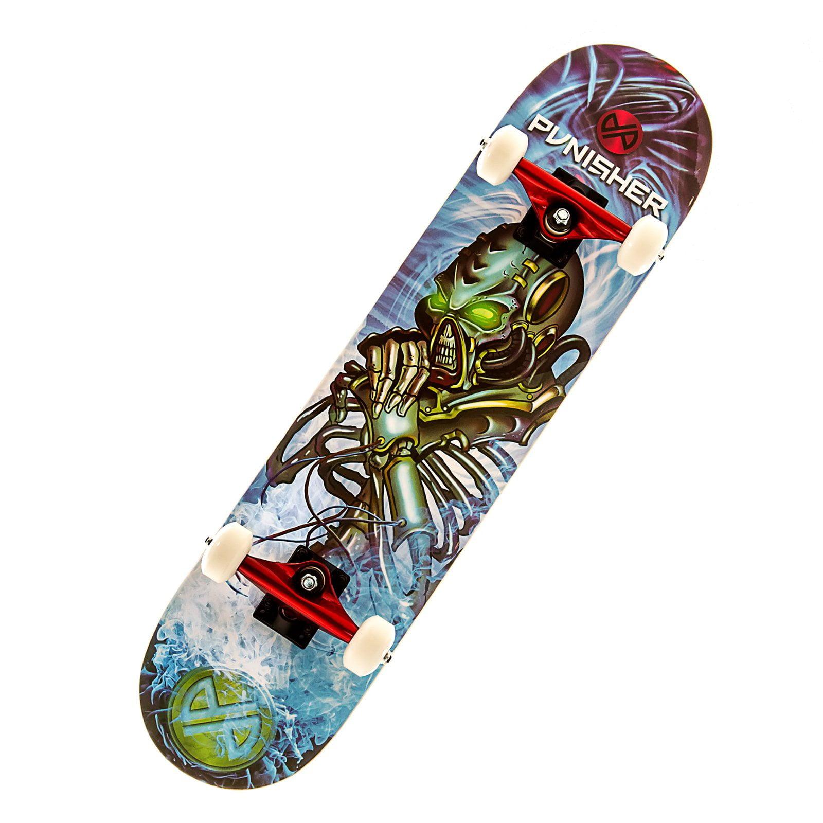 """Punisher Skateboards Alien Rage 31.5"""" ABEC-7 Complete Skateboard by Punisher Skateboards"""
