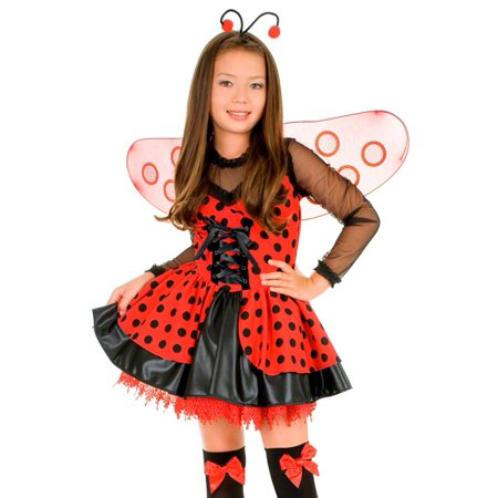 Kids Ladybug Halloween Costume Girls Lady Bug Outfit L Girls Large (10-12) - Deer Costume Outfit