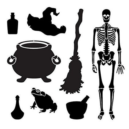 Happy Halloween Stencil (Halloween Brew Art Elements Stencil - 12