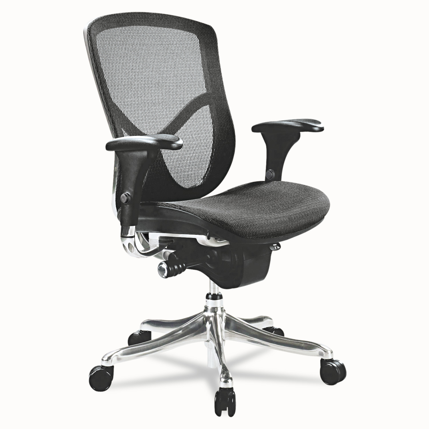 Alera EQ Series Ergonomic Multifunction Mid-Back Mesh Office Chair, Black Base by ALERA