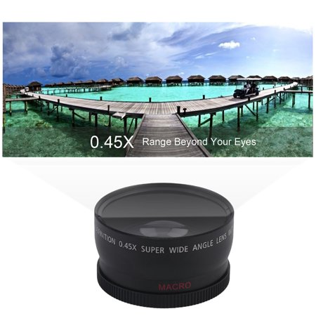 58mm Wide Angle Lens Lightweight 045x Conversion Camera With Carry Bag