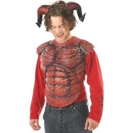 California Costumes Men's Demon Horns W/Teeth,Red,One Size Costume Accessory - Plastic Devil Horns