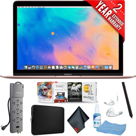 "Apple 12"" MacBook (Mid 2017, Rose Gold) + Accessories Combo -"