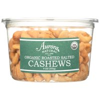 Aurora Natural Products Organic Roasted Salted Cashews, 9 Oz, Pack Of 12