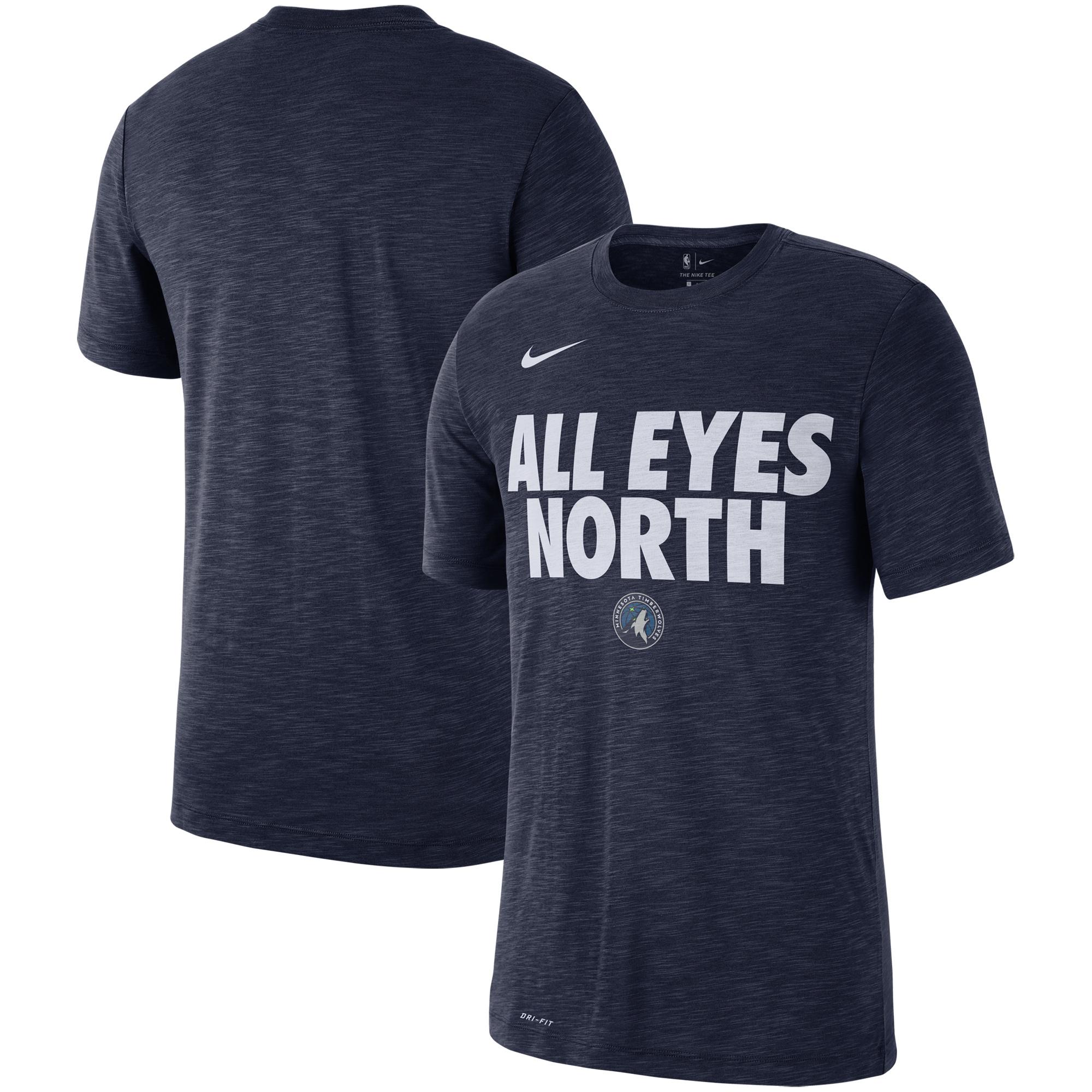Minnesota Timberwolves Nike Essential Team Attitude Performance T-Shirt - Heathered Navy